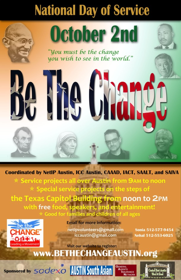 Be The Change Austin Poster